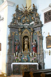 Heiliger Franziskus von Assisi-Altar in der Kirche des Heiligen Catherine von Alexandria in Krapina, Kroatien Lizenzfreies Stockfoto