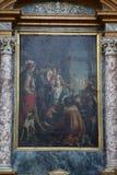 Heiliger Franziskus von Paola und von König Louis XI Lizenzfreies Stockbild