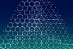 Heiliger Geometriesymbol- und -elementhintergrund vektor abbildung