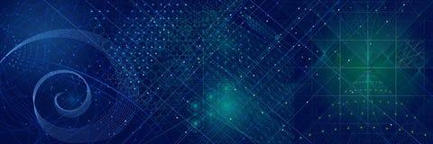 Heiliger Geometriesymbol- und -elementhintergrund Lizenzfreies Stockbild
