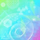 Heiliger Geometriesymbol- und -elementhintergrund Lizenzfreie Stockfotos