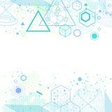 Heiliger Geometriesymbol- und -elementhintergrund Stockfoto