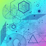 Heiliger Geometriesymbol- und -elementhintergrund Stockfotos