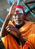 Heiliger Mann von Indien-Segen Stockfoto