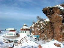 Heiliger Ort von Buddhisten Russland Sibirien der Norden von Buryatiya die Welt die Natur die Landschaft stockbilder