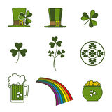 Heiliger Patrick-Symbole lizenzfreie abbildung