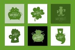 Heiliger Patrick-Tag Grußkartensatz für Ihren Entwurf stock abbildung