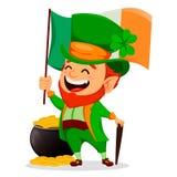 Heiliger Patrick-Tag Zeichentrickfilm-Figur-Kobold vektor abbildung