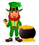 Heiliger Patrick-Tag Zeichentrickfilm-Figur-Kobold lizenzfreie abbildung