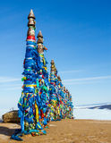 Heiliger Platz des Medizinmanns auf dem Baikalsee Stockbild