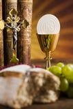 Heiliges Abendmahl, Sakrament des Kommunionshintergrundes stockfotografie