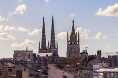 Heiliges Andre Cathedral auf Platz Pey-Berland im Bordeaux Lizenzfreie Stockbilder