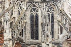 Heiliges Andre Cathedral auf Platz Pey-Berland im Bordeaux Lizenzfreie Stockfotografie