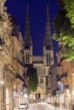 Heiliges Andre Cathedral auf Platz Pey-Berland im Bordeaux Stockbilder