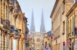 Heiliges Andre Cathedral von Bordeaux, Frankreich stockbild
