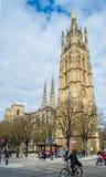 Heiliges Andre-Kathedrale, Pey Berland Bell-Turm, Bordeaux, Frankreich Stockfotografie