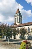 Heiliges Andre-Kirche in mittelalterlicher Stadt Heilig-Justine Stockbilder