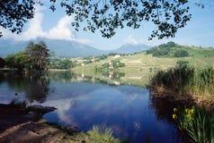 Heiliges Andre See im Wirsing, Frankreich Lizenzfreies Stockfoto