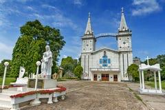 Heiliges Anna Nong Saeng Catholic Church, religiöser Markstein von Nakhon Phanom errichtete im Jahre 1926 durch katholische Pries Lizenzfreie Stockfotos