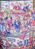 Heiliges Anton - Detail des großen Vase der chinesische Saal von 19 cent Lizenzfreies Stockfoto