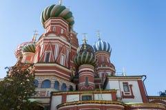 Heiliges Basil Cathedral und Vasilevsky-Abfall des Roten Platzes in Moskau der Kreml, Russland Stockbild