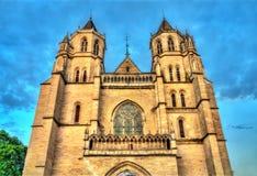 Heiliges Benignus Cathedral von Dijon in Frankreich lizenzfreie stockbilder