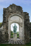 Heiliges Catherines-Statue in einem hellen Halo lizenzfreies stockbild
