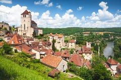 Heiliges-Cirq-Lapopie in der Losabteilung in Frankreich Stockbild