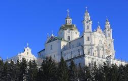 Heiliges Dormition Pochayiv Lavra in Ukraine Lizenzfreie Stockfotografie