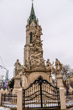 Heiliges Florian-Statue afront von Blumental-Kirche stockfoto