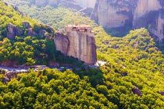 Heiliges Kloster von Rousanou in Meteora lizenzfreies stockbild