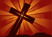 Heiliges Kreuz Christus lizenzfreie abbildung