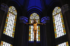 Heiliges Kreuz u. Jesus Stockbild