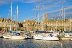 Heiliges Malo Jachthafen, Frankreich stockfotos