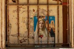Heiliges Marie am Kalender lizenzfreies stockbild