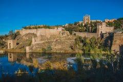 Heiliges Martin Bridge über dem Tajo, Toledo, Spanien lizenzfreies stockfoto