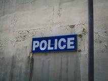 Heiliges Martin Police Department Sign Lizenzfreies Stockfoto