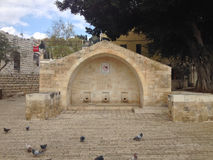 Heiliges Mary Well in Nazareth Palestine Israel Stockbilder