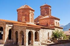 Heiliges Naum Monastery nahe Ohrid in Mazedonien lizenzfreie stockfotografie