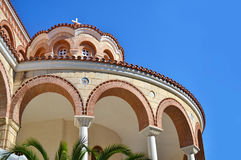 Heiliges Nectarios-Kloster Aegina Griechenland Stockbild