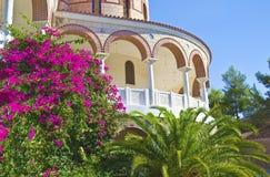 Heiliges Nectarios-Kloster Aegina Griechenland Lizenzfreie Stockfotografie