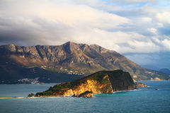 Heiliges Nicholas Island, Budva, Montenegro Lizenzfreie Stockbilder