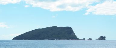 Heiliges Nicholas Island Sveti Nikola Island Budva, Montenegro Stockbild