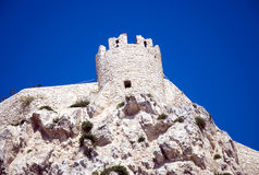 Heiliges Nicola Kontrollturm - Tremiti Inseln lizenzfreies stockbild