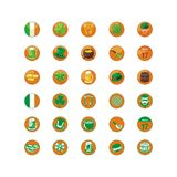 Heiliges Patrick Day Icons Pack Lizenzfreies Stockbild