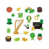 Heiliges Patrick Day Set Lizenzfreies Stockfoto