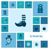 Heiliges Patricks-Tagesikonen-Satz Stockfoto