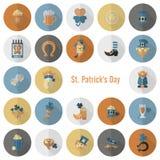 Heiliges Patricks-Tagesikonen-Satz Stockbilder