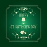 Heiliges Patricks-Tageskarte stock abbildung