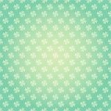 Heiliges Patricks-Tagesnahtloses Muster mit buntem Fr?hlingshintergrund der Kleeshamrock Vektorkarikatur lizenzfreie abbildung